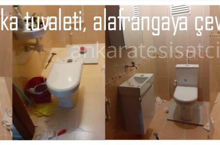 ALATURKA TUVALETİ ALAFRANGA TUVALETE ÇEVİRME